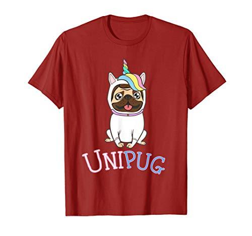 UniPug Shirt - Cute Pug Unicorn Costume Pug Art -