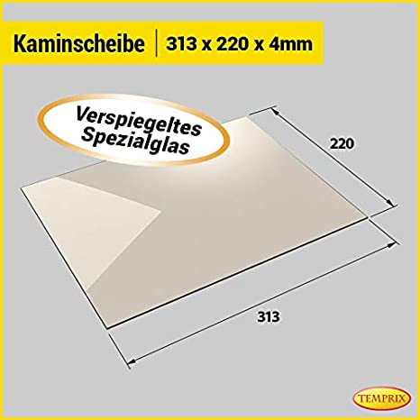 Ofenscheibe /& Kaminscheibe 310 x 310 mm Temperaturbest/ändig bis 800/° C /» Wunschma/ße auf Anfrage /« feuerfestes Glas f/ür Kamin /& Ofen Temprix Kaminglas /& Ofenglas