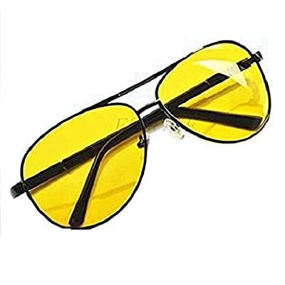 Yumian UV400 Unisex HD Night Vision Glasses Yellow Driving Sunglasses Polarized Driving Aviator Anti-Glare Glasses