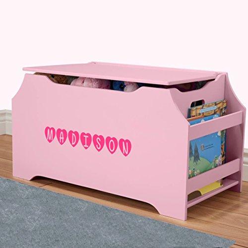 DIBSIES Personalization Station Personalized Dibsies Kids Toy Box with Book Storage - Girls (Pink) ()
