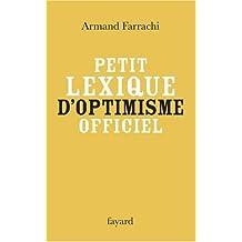PETIT LEXIQUE D'OPTIMISME OFFICIEL