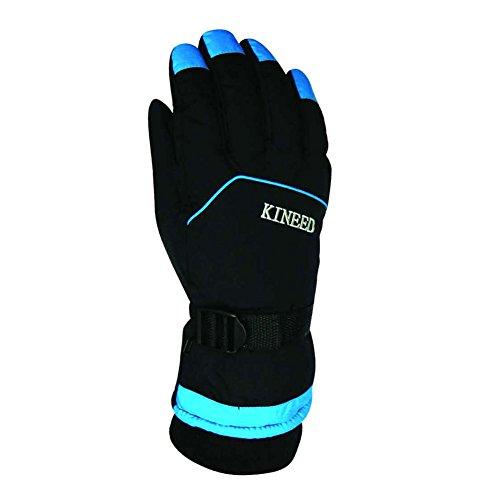 EDTara Cycling Snowboard Skiing Gloves Winter Warm Ski Gloves Windproof Waterproof Anti-skid Wearable Full Finger Gloves for Men