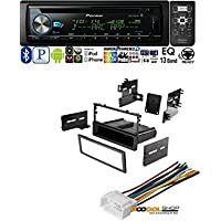 CAR STEREO DASH INSTALL MOUNTING KIT WIRE HARNESS FOR HONDA 1986- 2008 Pioneer DEH-X6900BT Vehicle CD Digital Music Player Receivers, Black