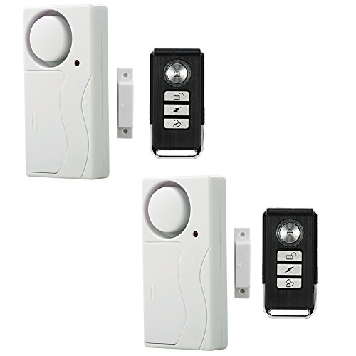 Wireless Magnetic Door - Wireless Anti-Theft Monitor Remote Control Window Door Security Alarms Magnetic Sensor Home Door Entry chime Pack of 2