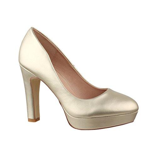 Gold Scarpe Con Elara Donna Plateau zqfZn7w