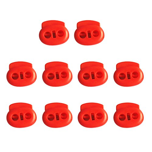 - MonkeyJack Pack of 10 Heavy Duty Double-Holes Plastic Bean Cord Lock Clamp Toggle Stop Slider for Paracord, Elastic Cord, Accessory Cordage, Drawstrings - Indoor / Outdoor Use