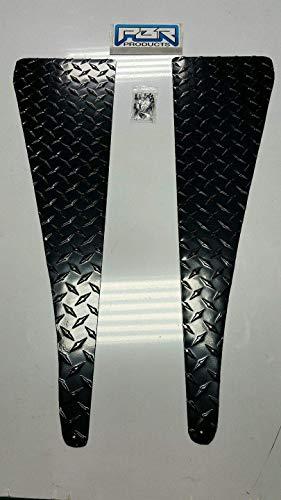 Jeep Wrangler TJ Black Powder Coated Diamond Plate Fender Top Cover set flat