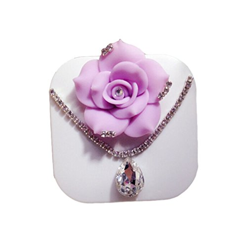 [[PURPLE ROSE Necklace] Special DIY Contact Lenses Box Case/Holders Container] (Prescription Colored Contact Lenses)