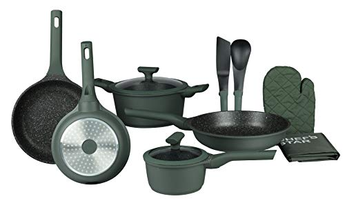 Pots and Pans Non Stick Cookware Set; Best Skillet Pan for Cooking and Saute; Professional Grade Die Cast Aluminum, Set…