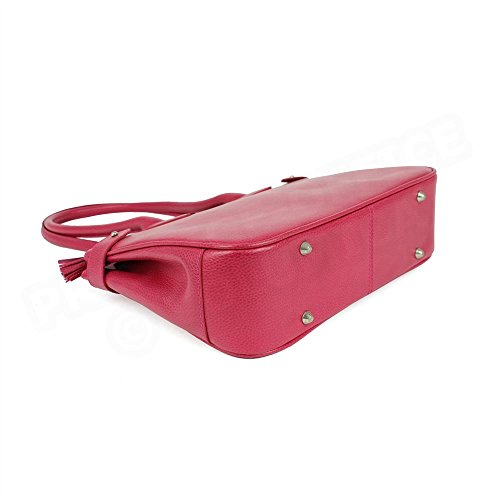 Sac Cabas Shopping Paris cuir Rose fuchsia Beaubourg