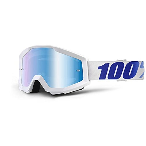 100% Unisex-Adult Speedlab (50410-237-02) STRATA Goggle Equinox-Mirror Blue Lens, One Size) by 100%