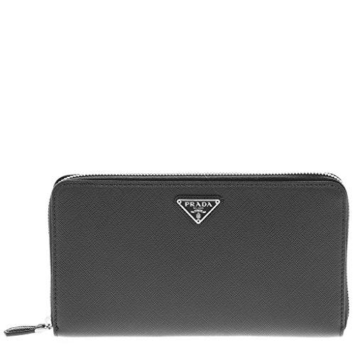 Prada Women's Women's Saffiano Triangle wallet Black Black