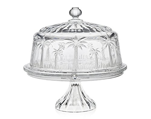 Godinger Silver Art Palm Cake Plate 4 in 1