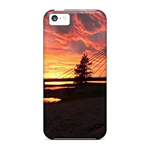 New Shockproof Protection Case Cover For Iphone 5c/ Sunset In Clouds Case Cover