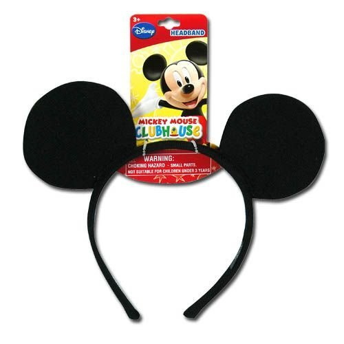 Mickey Mouse Headband Ears - Genuine UPD Mickey Mouse Classic Ear Shaped Headband Disney Official Licensed Mickey Mouse Clubhouse