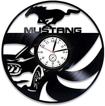 Kovides Mustang Vinyl Record Wall Clock Vinyl Clock Mustang Vinyl Wall Clock Mustang Wall Clock Vintage Gift