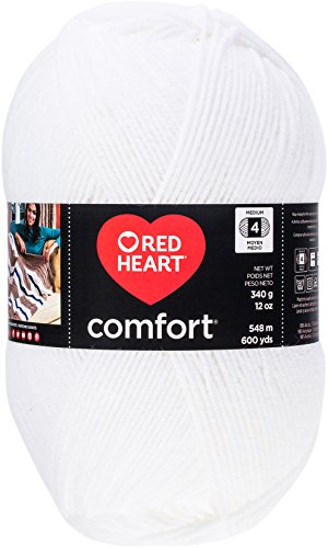 RED HEART Comfort Shimmers Yarn, White Opal