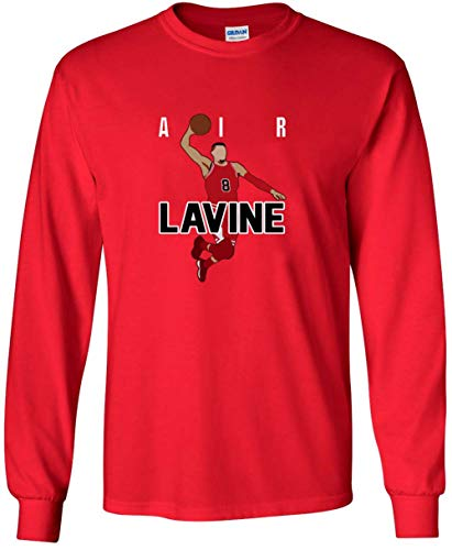 Long Sleeve RED Chicago LaVine Air Pic T-Shirt Youth for sale  Delivered anywhere in USA