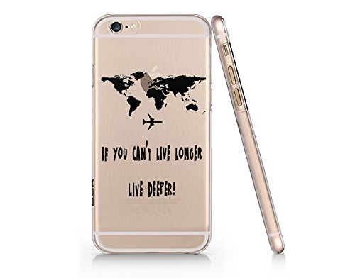 World Map Iphone 6s Case.Amazon Com If You Can T Live Longer Live Deeper World Map