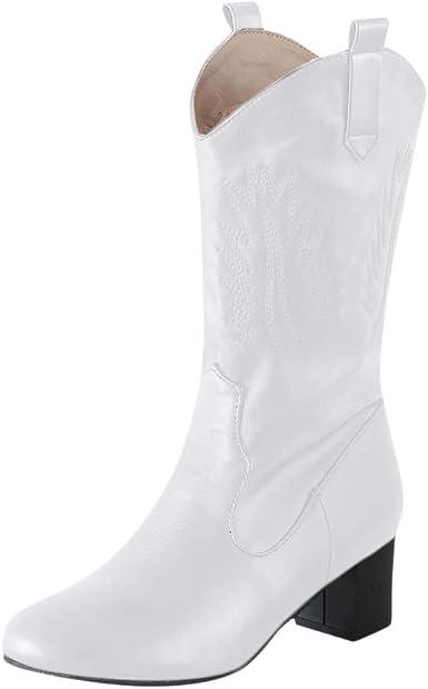 Mxjeeio Botas Mujer de Tacón Bajo Zapatos Casuales para Dama