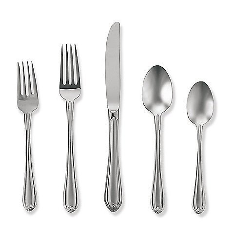 Gorham Melon Bud Frosted 45-piece 18/10 Stainless Flatware Set