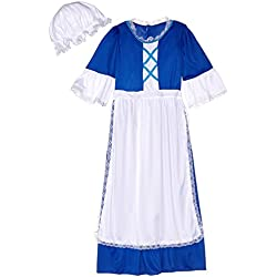 Forum Novelties Colonial Girl Costume, Child's Large