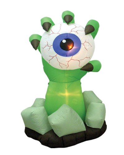6 Foot Halloween Inflatable Monster Hand with Eyeball Outdoor -