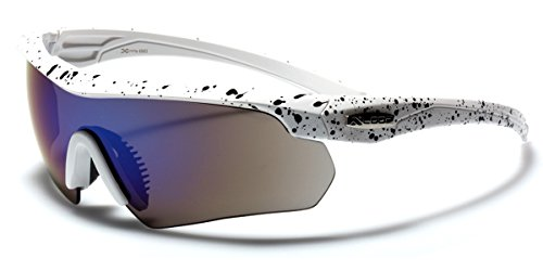 Half Frame Men's Cycling Triathlon Baseball Running Sports Sunglasses - White / Revo Blue - Order Triathlon