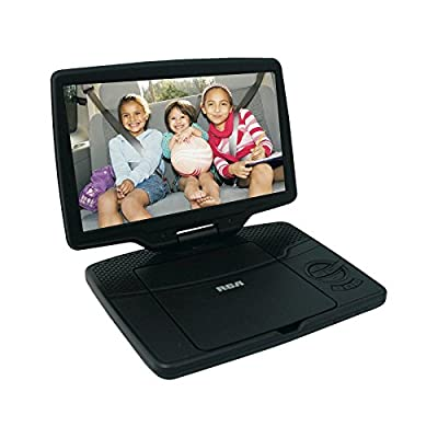 """RCA 10"""" Portable DVD Player with Swivel Display (DRC98101S) - Black (Certified Refurbished) by RCA"""