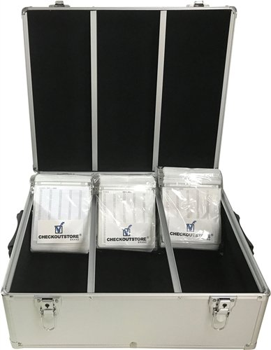 CheckOutStore Silver Aluminum CD/DVD Hanging Sleeves Storage Box (Holds 600 Discs) ()