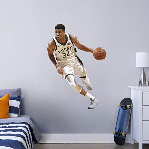 FATHEAD NBA Milwaukee Bucks Giannis Antetokounmpo Officially Licensed Removable Wall Decal, Multicolor, Giant