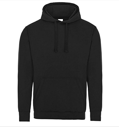 Famona Ltd Plain Black Pullover Unisex Hoodie Hooded Top Hoodie for Mens and Womens Hooded Sweatshirt Available in XS to…