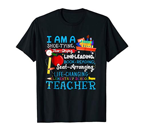 I Am A Shoe-Typing Tear-Drying Elementary School Teacher Tee
