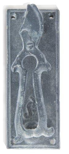 Esschert Design USA 8371 Secrets du Potager Pruning Scissors Door Knocker, Grey - Door Ladybug Knocker