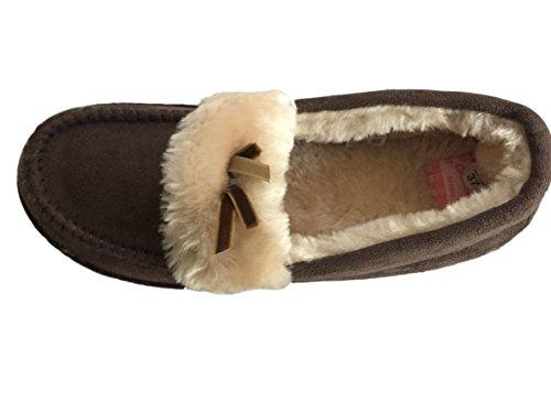 Jyoti - Zapatos de vestir para niña marrón marrón oscuro 36 fSCg3VvMU