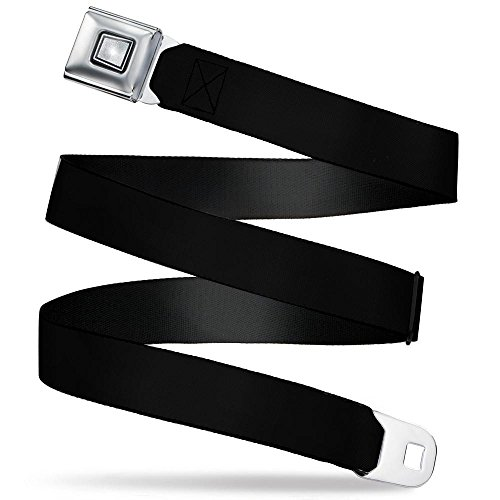 Buckle-Down Men's Seatbelt Belt Starburst Black Regular, 1.5