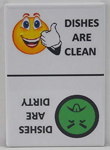- CLEAN / DIRTY Smiley Face & Mr. Yuck Face - Dishwasher Magnet.