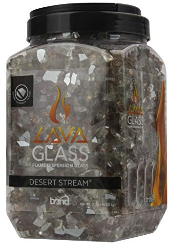 Bond Manufacturing 50686 Golden Flame Fire Glass, Bodega Blue