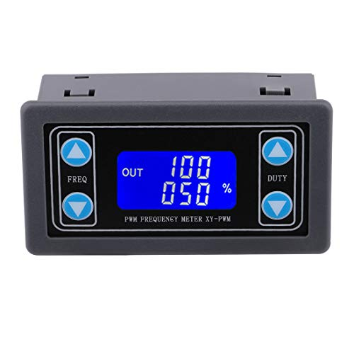 (PWM Frequency Meter, Yeeco 1Hz-150KHz 0-100% Adjustable PWM Square Wave Pulse Signal Generator 3.3-30V 5V 12V 24V Frequency Duty Cycle Module with Protective Shell LCD Display )