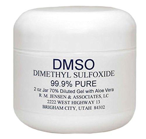 DMSO 70% GEL WITH DEIONIZED WATER AND ALOE VERA 2 OZ JAR (Aloe Ounce Jar 2)