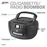 GPX BCA209B Portable Am/FM Boombox with CD and