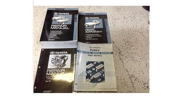 1998 Toyota Rav4 Rav 4 RAV4 Service Shop Repair Manual SET W ... on