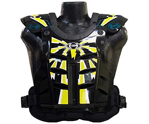 HRP Flak Jak Kids Chest Protector blue/green yellow peewee 50-95 lbs