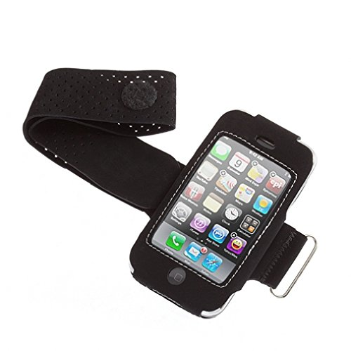 Black Adjustable Neoprene Sport Gym Workout Band Running Arm-band Case Pouch Cover with Screen Protector for AT&T LG eXpo - Expo Skin Lg