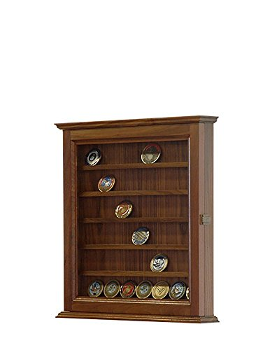 Walnut Challenge Coin Display Case *made in the USA*