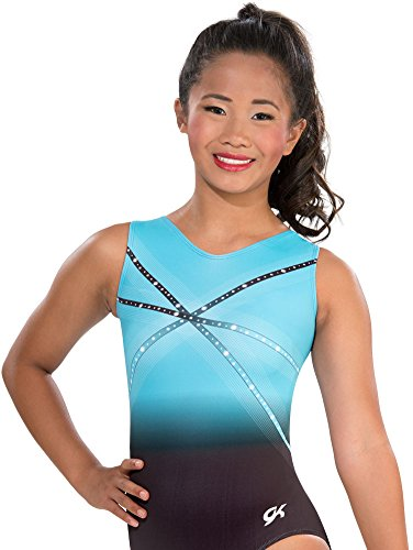 GK Glitz & Glam Gymnastics Leotard - Adult Small,blue