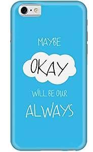 Stylizedd Apple iPhone 6 Premium Slim Snap case cover Matte Finish - Maybe Okay