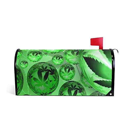 Unicey Pot Weed Snookie Orb Cannabis Magnetic Mailbox Cover Mail Letter Box Cover Wraps Post Box Covers, 20.8 x 18 inch ()