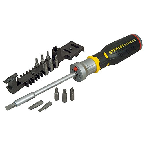 Stanley FMHT0-62689 Bit-Screwdriver with 12 Bits and LED, Bl