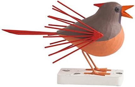 Gold Leaf Design Group WD2331-F Charley Harper Licensed Cardinal Courtship Female Wood Bird